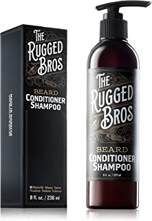 3-in-1 Beard Shampoo and Conditioner for Face, Beard, and Hair - Beard Wash and Conditioner - Supports Beard Growth - Made with Beard Oil, Organic Argan Oil (8 oz)