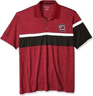 NCAA South Carolina Gamecocks Mens NCAA Men's Short Sleeve Striped Polo Collared Teechampion NCAA Men's Short Sleeve Striped Polo Collared Tee, True Cardinal, Large