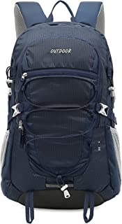 XQXA 登山リュックサック バックパック大容量 防水 超軽量 登山リュック35l背中通気 登山ザック アウトドア登山バックパック旅行バッグ 長期旅行 通学 男女兼用バッグ ハイキングバッグ 収納性抜群 防水カバー付属