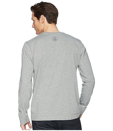 is de Dude Grateful gris manga larga Good Life jaspeado camiseta trituradora 4PdXxqPw