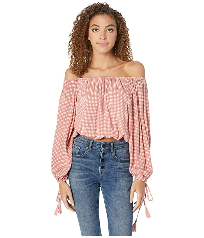 Miss Me Off Shoulder Gingham Top