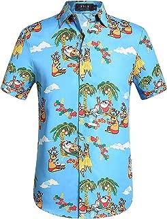 SSLR Big Boys Xmas Party Casual Hawaiian Ugly Christmas Shirt
