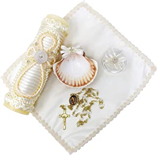 Salve Regina Hand Made Catholic Christening/Baptism Kit - Model 8