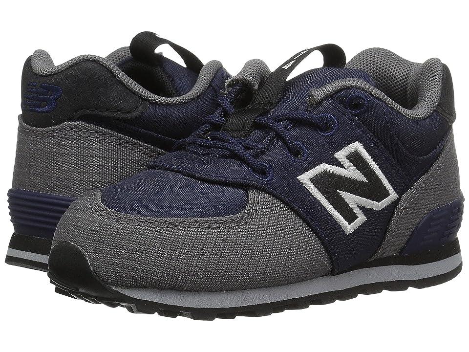 New Balance Kids KL574v1I (Infant/Toddler) (Navy/Gray) Boys Shoes