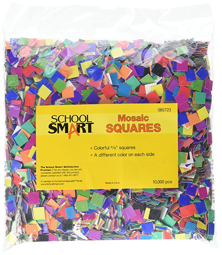 School Smart Colorful Square Mosaic Card Stock Pack, 3/8 in, Assorted Color, Pack of 10000