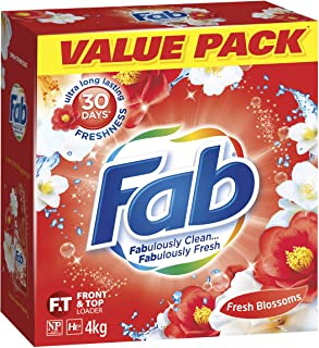 Fab Fresh Blossoms, Laundry Detergent Washing Powder. Suitable for Front & Top Loaders