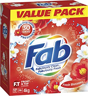 Fab Fresh Blossoms, Laundry Powder Detergent, Suitable for Front & Top Loaders, 4kg