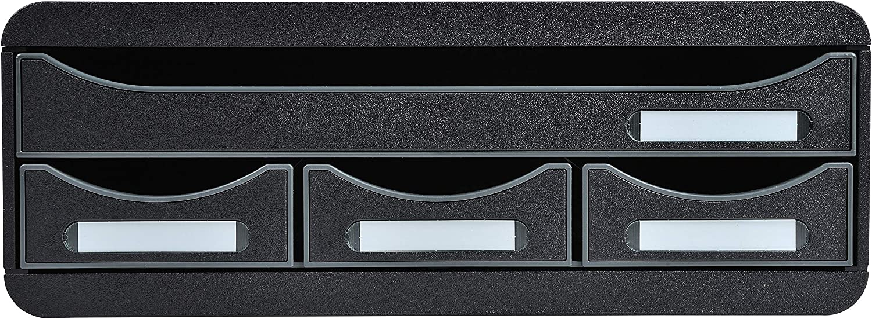 Exacompta 2021 Toolbox 4 - Drawers 2021 model Black