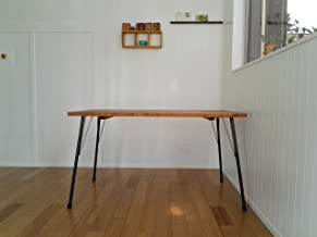 ハンドメイド アイアンテーブル70x130ライトブラウン 鉄脚 カフェスタイル IT70x130-LB
