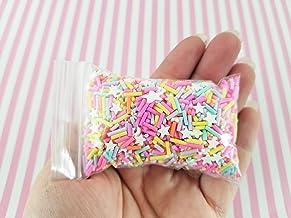 Lumos80 Bright Horizon Sprinkle Mix, Pastel and Bright Sprinkles with Stars, Polymer Clay Fake Sprinkles, Decoden Funfett Jimmies, K82(30 Gram Bag)