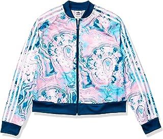 adidas Originals Girls` Big Marble Crop Short Sleeve Tee