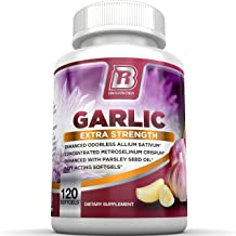 BRI Nutrition Odorless Garlic - 120 Softgels - 1000mg Pure and Potent Garlic Allium Sativum Supplement (Maximum Strength) ...