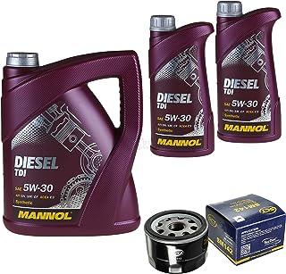 Filter Set Inspektionspaket 7 Liter MANNOL Motoröl Diesel TDI 5W 30 API SN/CF SCT Germany Ölfilter