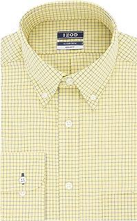 Izod Mens Regular Fit Stretch Check Buttondown Collar Dress Shirt Dress Shirt