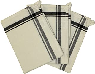 Aunt Martha's 3-Pack Retro Black Striped Dish Towels, 18 by 28-Inch