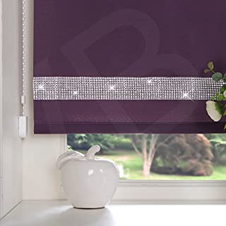 New Plain Fabric Roller Blind Drop 160cm Daylight Blinds Trimable Lilac Easy Fit