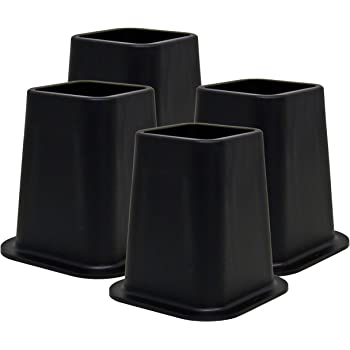 Honey-Can-Do STO-01006 Stackable Bed Risers White 4-Pack