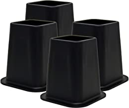 Kings Brand Furniture - Heavy Duty 6-inch Bed Risers, Furniture Riser, Great for Under Bed Storage, Set of 4