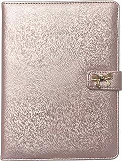 "Journal (Notebook Bookmarks Women ) Snap-Close ; Metallic Blush Pink Pebble Grain Finish Cover- 8.25""X6"" Inner Block App ...."
