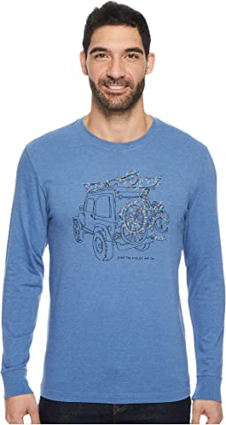 Life is Good - ATV Lights Long Sleeve Crusher Tee
