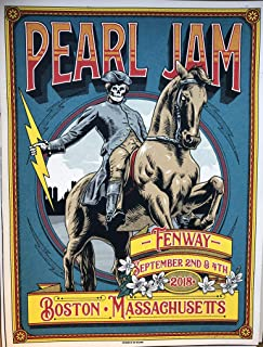 Pearl Jam boston poster fenway park 2018 ian williams art pj tour new