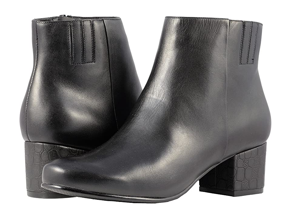 Trotters Shannon (Black Smooth Leather) Women