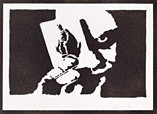 Poster Joker Carta da Gioco Batman Handmade Graffiti Street Art - Artwork