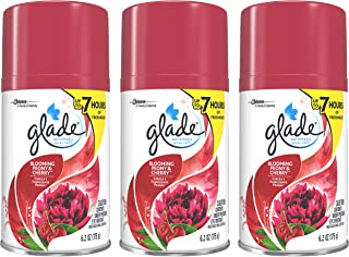 Glade Automatic Spray Refill - Blooming Peony & Cherry - Net Wt. 6.2 OZ (175 g) Per Refill Can - Pack of 3 Refill Cans