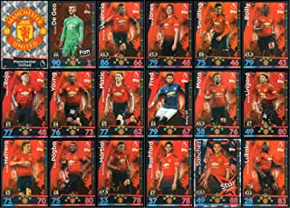 MATCH ATTAX 2018/19 18/19 Manchester United Full 18 Card Team Set - Man UTD