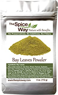 The Spice Way Bay Leaves - ground | 4 oz | bay leaf powder great for cooking soups, stews and vegetables