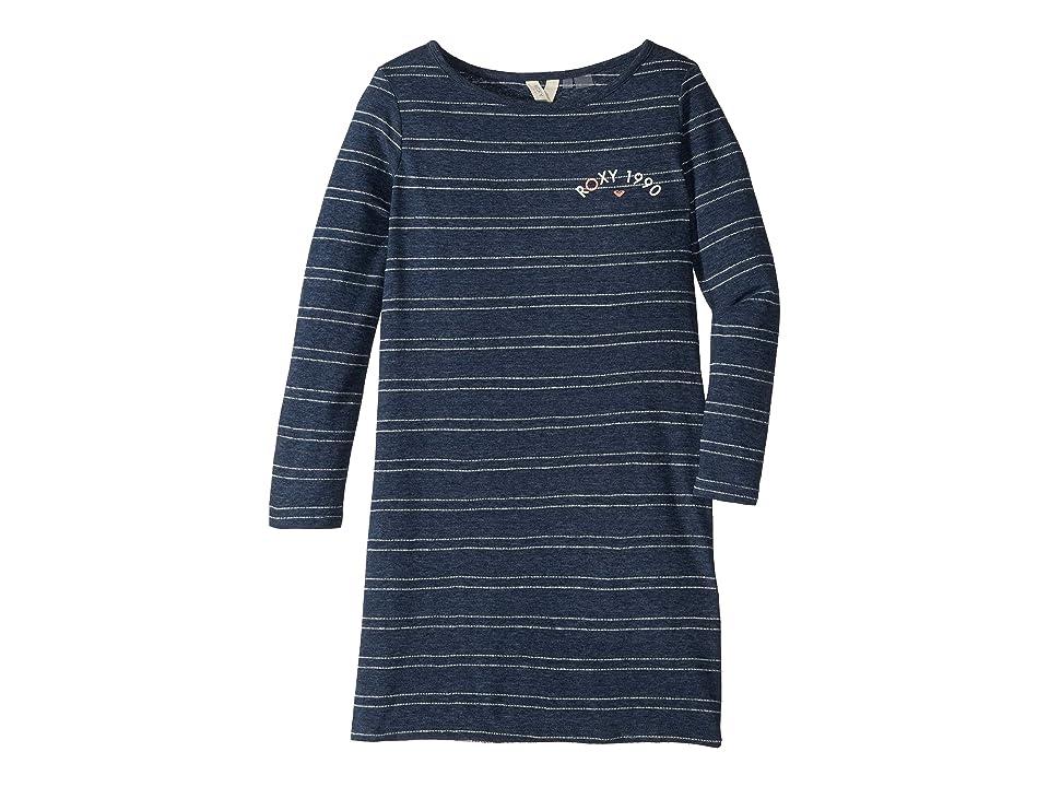 Roxy Kids Sweet Fruit Long Sleeve Dress (Big Kids) (Dress Blues My Little Stripe) Girl