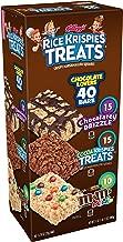 Kellogg's Rice Krispies Treats, Crispy Marshmallow Squares, Chocolate Lovers Variety Pack, Single Serve, 0.78 oz Bars(40 Count)