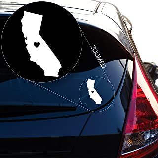 Yoonek Graphics Love California Decal Sticker for Car Window, Laptop and More. # 567 (6