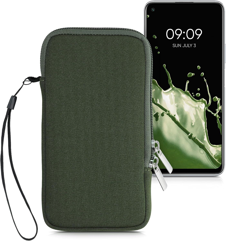 kwmobile Estuche de Neopreno Universal para Smartphone - Funda Protectora con Cremallera para XL - 6,7/6,8