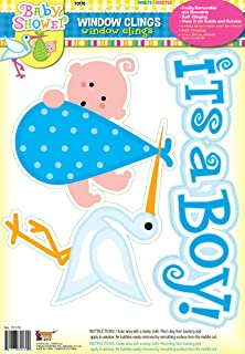 Forum Novelties It's a Boy Baby Blue Window Cling Party Shower Decoration