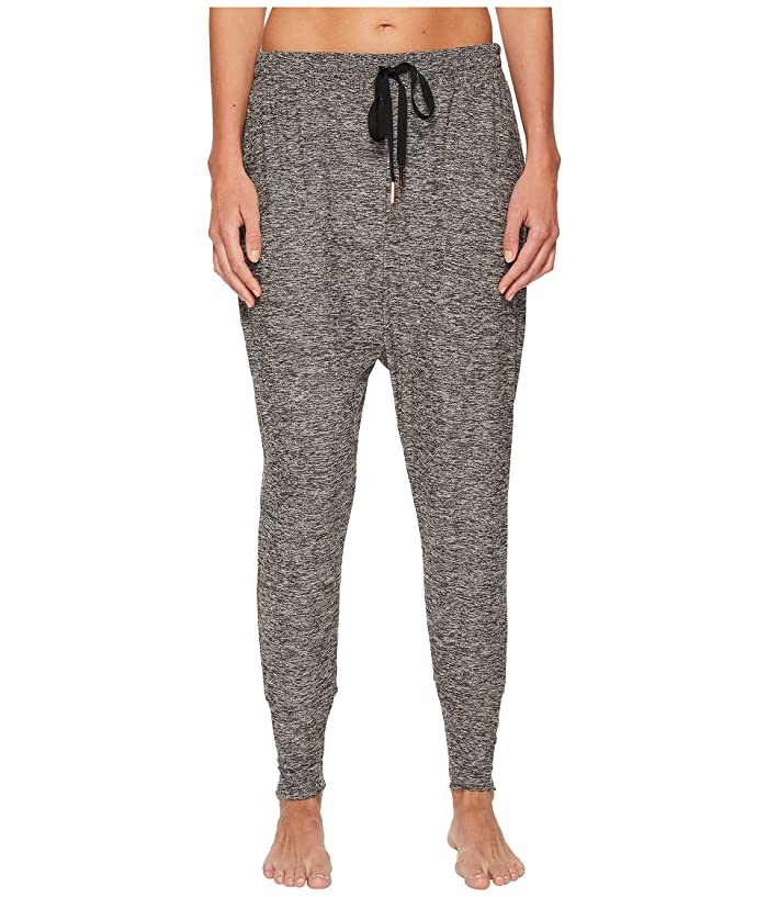 Beyond Yoga Weekend Traveler Midi Sweatpants (Black/White Spacedye) Women