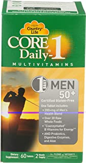 Country Life, Core Daily 1 Multivitamin Men 50 Plus, 60 Tablets