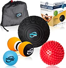 Invincible Fitness Massage Balls Set for Deep Tissue Muscle Recovery, Perfect for Myofascial Release, Trigger Point Therapy, Mobility and Plantar Fasciitis