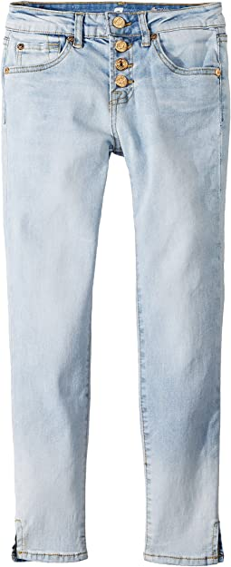 7 For All Mankind Kids Skinny Jeans in Ocean Breeze (Big Kids)