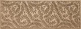 Bungalow Flooring Waterhog Indoor/Outdoor Runner Rug, 22 x 60 inches, Made in USA, Skid Resistant, Easy to Clean, Catches Water and Debris, Boxwood Collection, Khaki/Camel