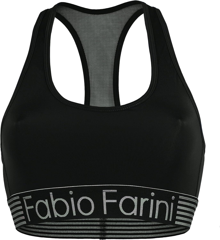 Fabio Farini Conjunto Deportivo con Bralette Racerback y Braguita en Negro o Azul