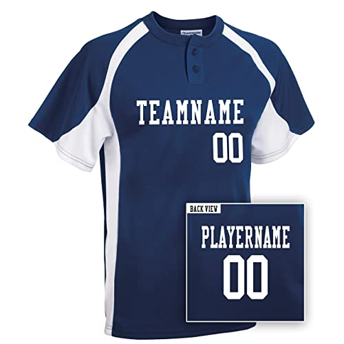 c2743d80ad8 Adult Custom Baseball 2-Button Jersey, Personalize with YOUR Names & Numbers