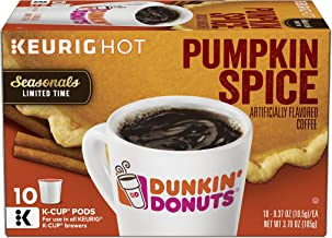 Dunkin' Donuts Pumpkin Spice Flavored Coffee, 60 K Cups for Keurig Coffee Makers