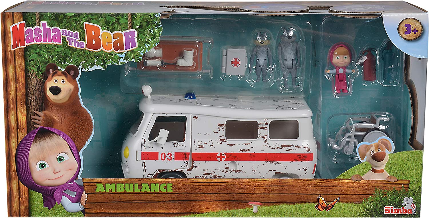 Simba Toys Masha and the Bear Ambulance Playset