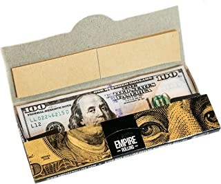 Empire Rolling - 1 Wallet $100 Bill Rolling Paper (10 Papers) - Benny 1 3/4 Inches | Made from Pure All Natural Ingredients | Premium Quality Paper, Organic, 100% Vegan, Non-GMO, Unbleached