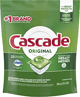 Cascade ActionPacs Dishwasher Detergent Fresh Scent, 25 ct (Pack of 5)