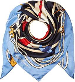 Polo Ralph Lauren Nautical Flag Silk Square Scarf