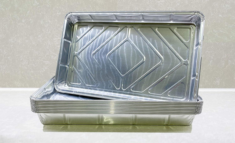 ideal zum Kochen 10 St/ück Aufbewahren oder Einfrieren Backen 32 x 20 x 3,3 cm The Sweetest Co Einweg-Tabletts aus Aluminium