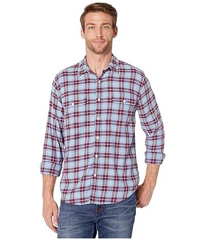 Lucky Brand Saturday Stretch Lightweight Flannel Shirt (Blue/Red) Men