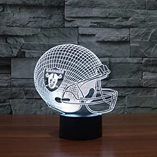 Football Helmet Light - Touch Control Football Helmet Light- Upgraded Color Changing Touch Light - Night Light for Boys Men Women - Perfect Gift for Football Sports Lovers (Oakland Raiders)